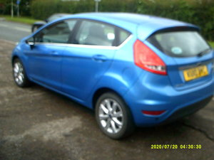 2010 FORD FIESTA 1250cc IN BLUE  5 DOOR 5 SPEED PETROL ALLOYS ABS