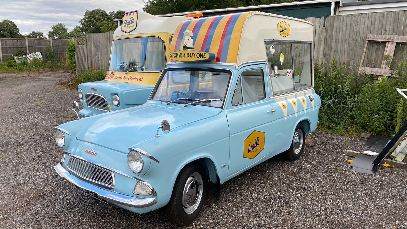1963 Ford Anglia Rare Martin Walter Ice Cream Van For Sale (picture 1 of 3)