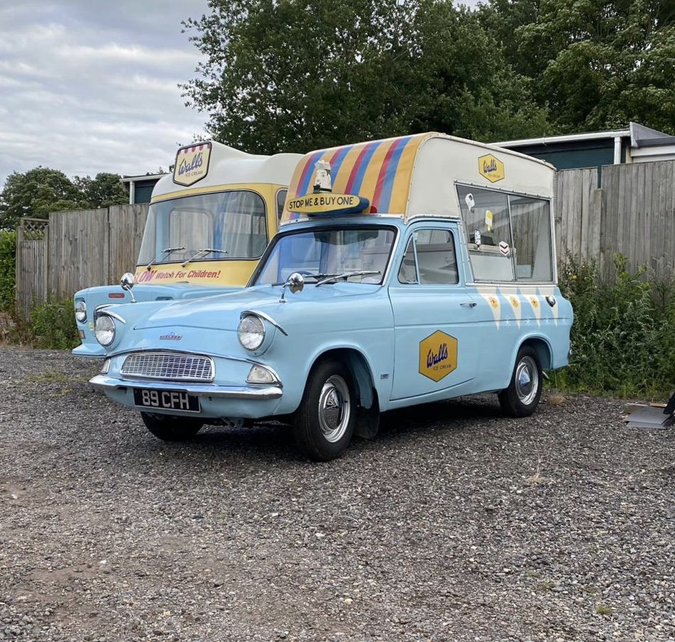 1963 Ford Anglia Rare Martin Walter Ice Cream Van For Sale (picture 2 of 3)