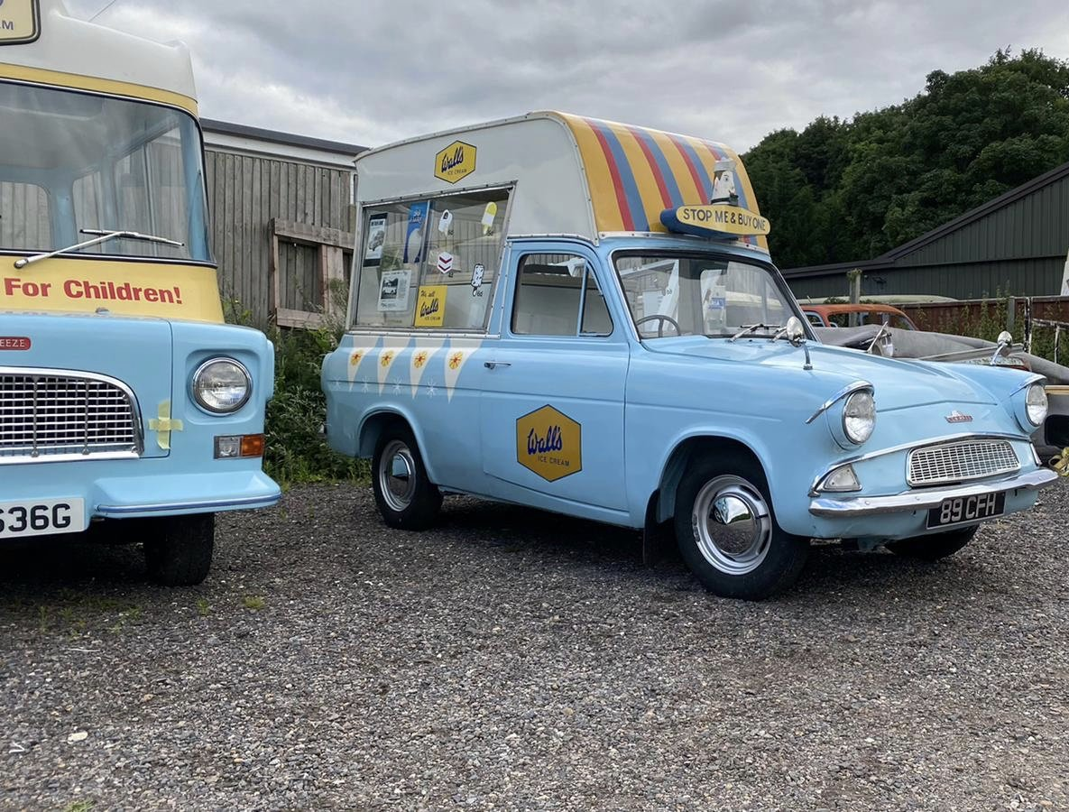 1963 Ford Anglia Rare Martin Walter Ice Cream Van For Sale (picture 3 of 3)
