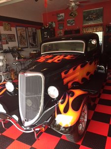 1934 Ford three window coupe real hot rod