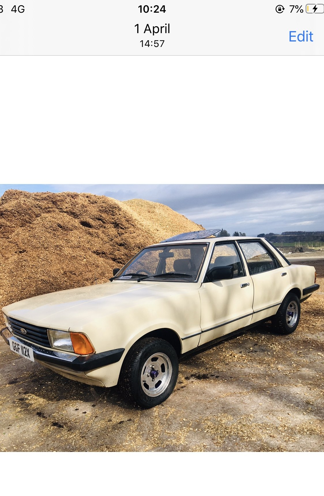 1982 Ford cortina 1.6 mk5 66k For Sale (picture 5 of 6)