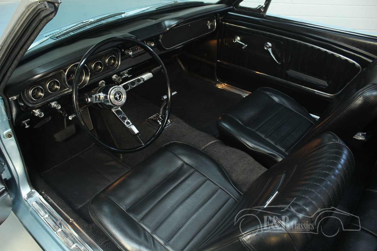 Ford Mustang cabriolet 1965 A-code V8 Silver Blue Metallic For Sale (picture 3 of 6)