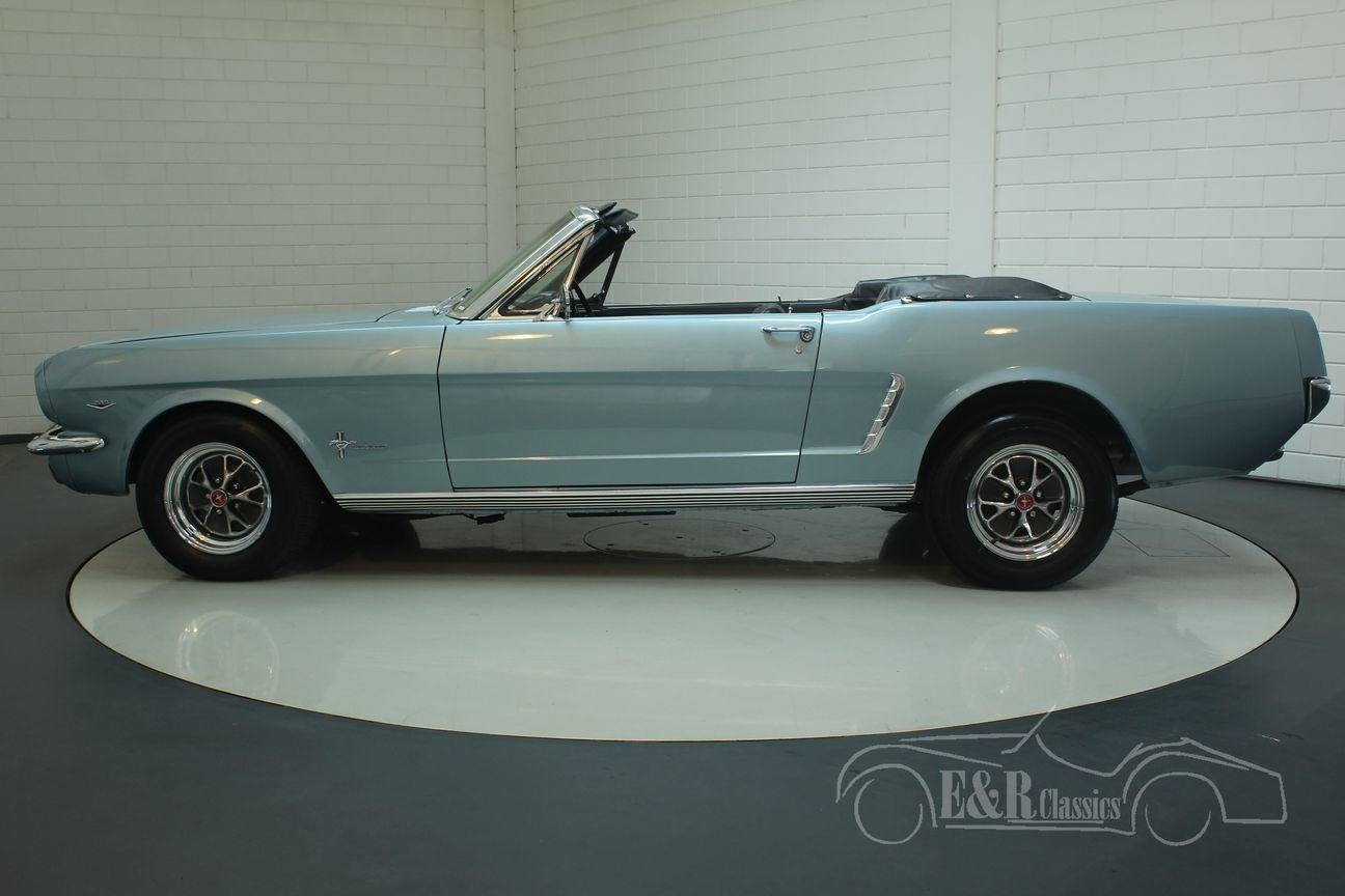 Ford Mustang cabriolet 1965 A-code V8 Silver Blue Metallic For Sale (picture 5 of 6)
