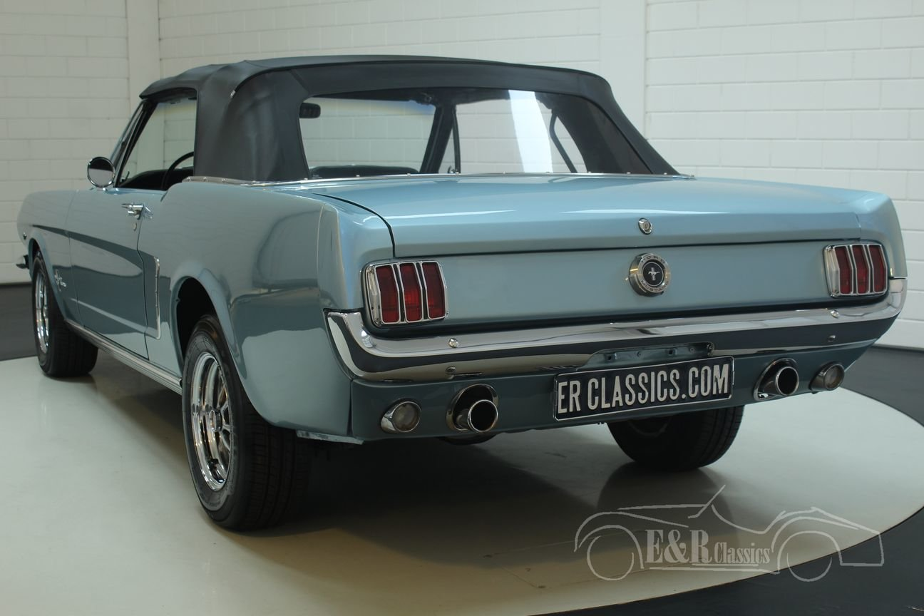Ford Mustang cabriolet 1965 A-code V8 Silver Blue Metallic For Sale (picture 6 of 6)