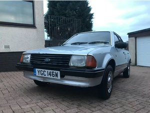 1981 'W' Ford Escort Ghia in Strato Silver