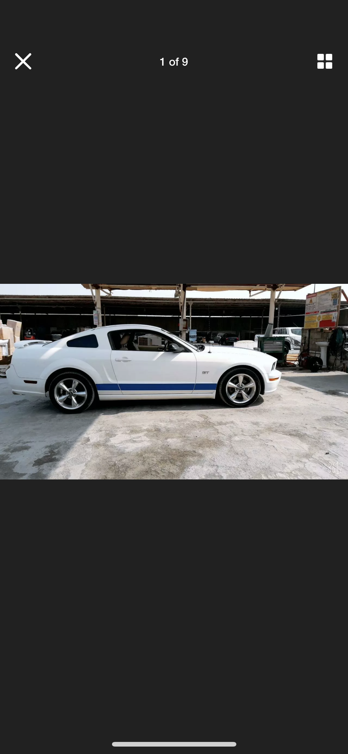 2005 FORD MUSTANG 4.6 V8 GT WHITE LHD FRESH IMPORT For Sale (picture 1 of 6)