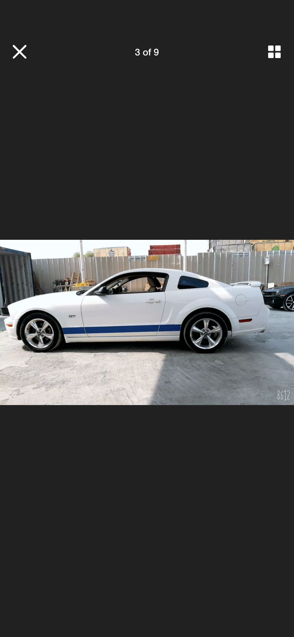2005 FORD MUSTANG 4.6 V8 GT WHITE LHD FRESH IMPORT For Sale (picture 3 of 6)