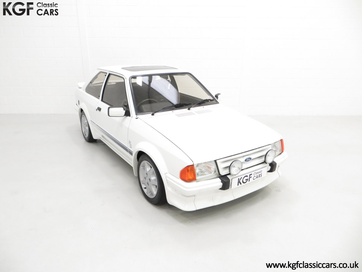 1985 A Ford Escort Series 1 RS Turbo with 17,894 Miles SOLD (picture 2 of 24)