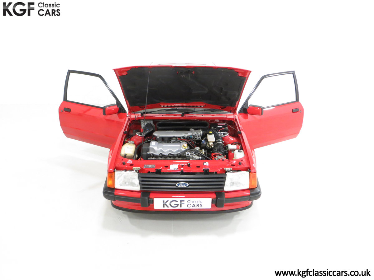 1985 An Award-Winning Late Ford Escort Mk3 XR3i in Rare Rosso Red SOLD (picture 4 of 24)