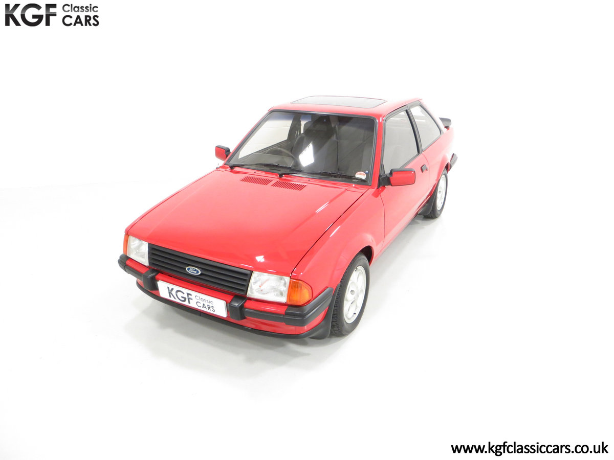 1985 An Award-Winning Late Ford Escort Mk3 XR3i in Rare Rosso Red SOLD (picture 5 of 24)