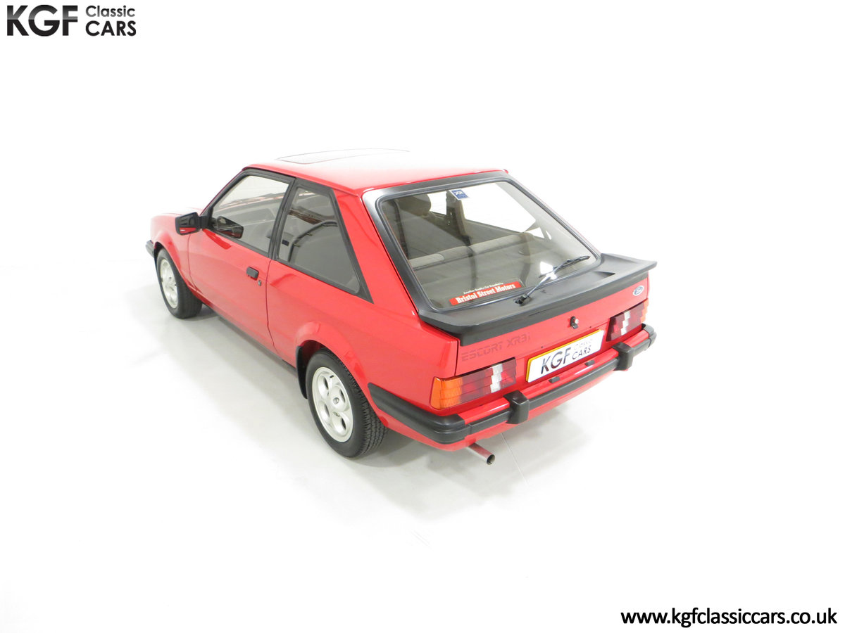 1985 An Award-Winning Late Ford Escort Mk3 XR3i in Rare Rosso Red SOLD (picture 9 of 24)
