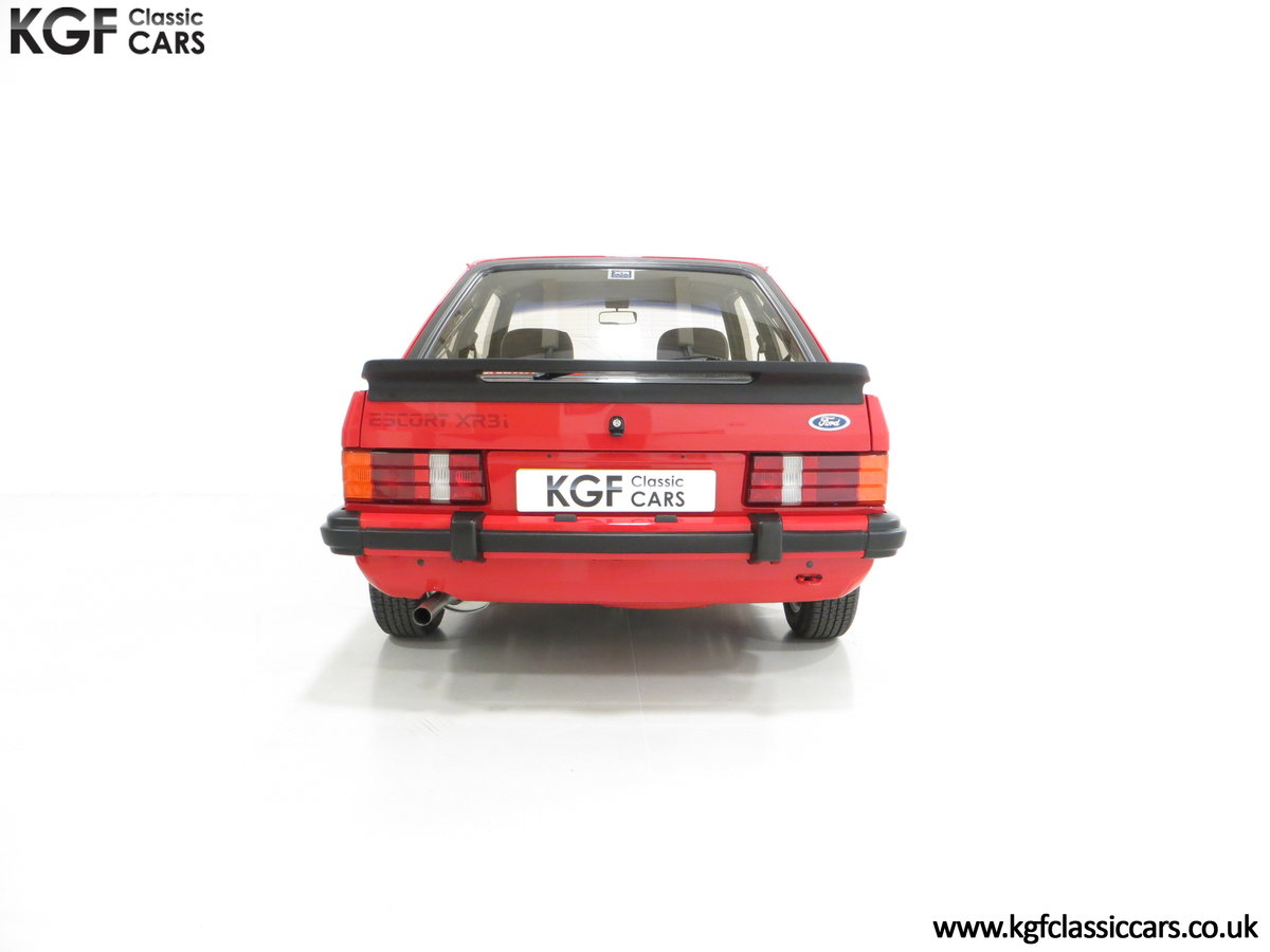 1985 An Award-Winning Late Ford Escort Mk3 XR3i in Rare Rosso Red SOLD (picture 10 of 24)