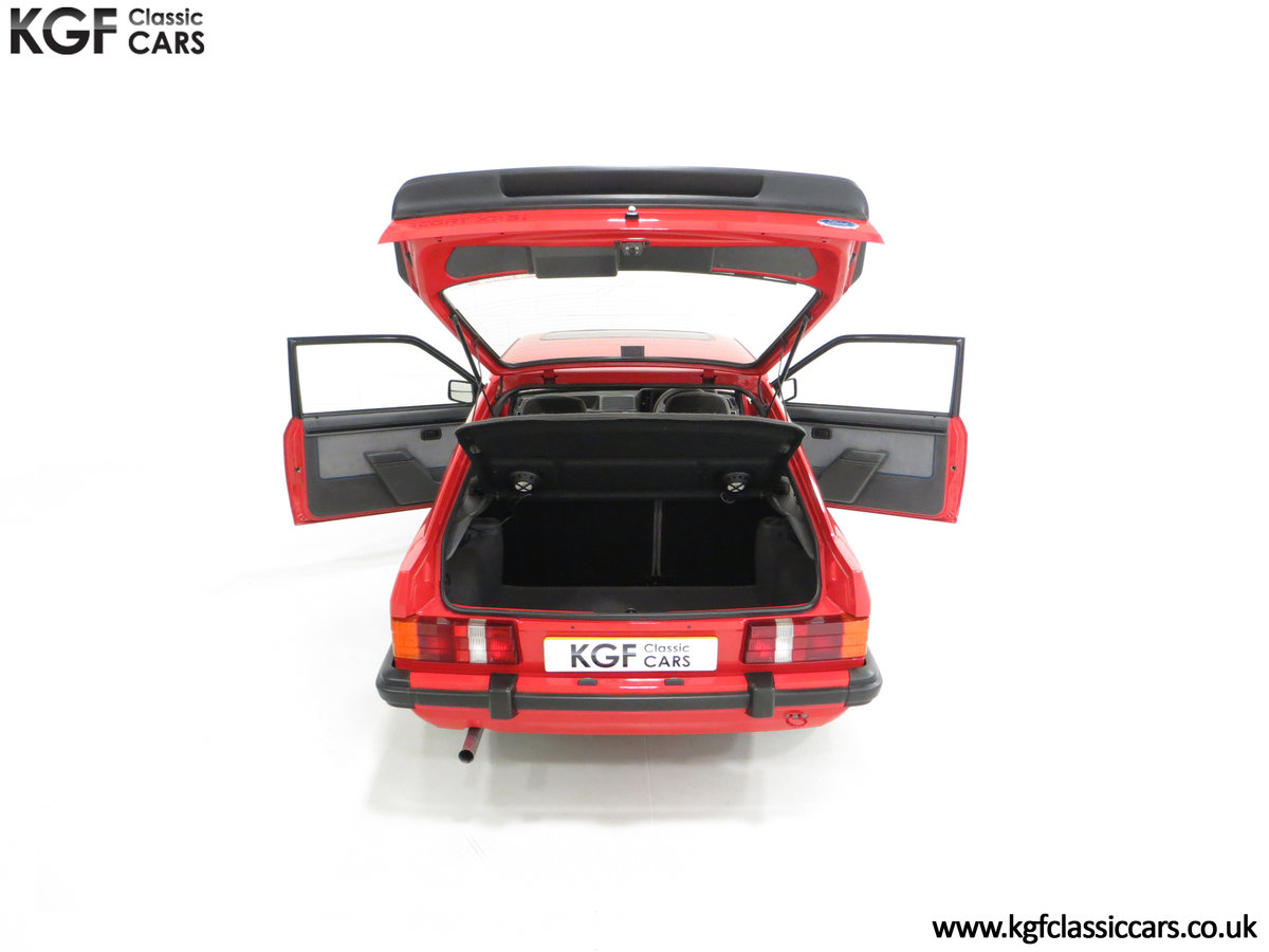 1985 An Award-Winning Late Ford Escort Mk3 XR3i in Rare Rosso Red SOLD (picture 11 of 24)