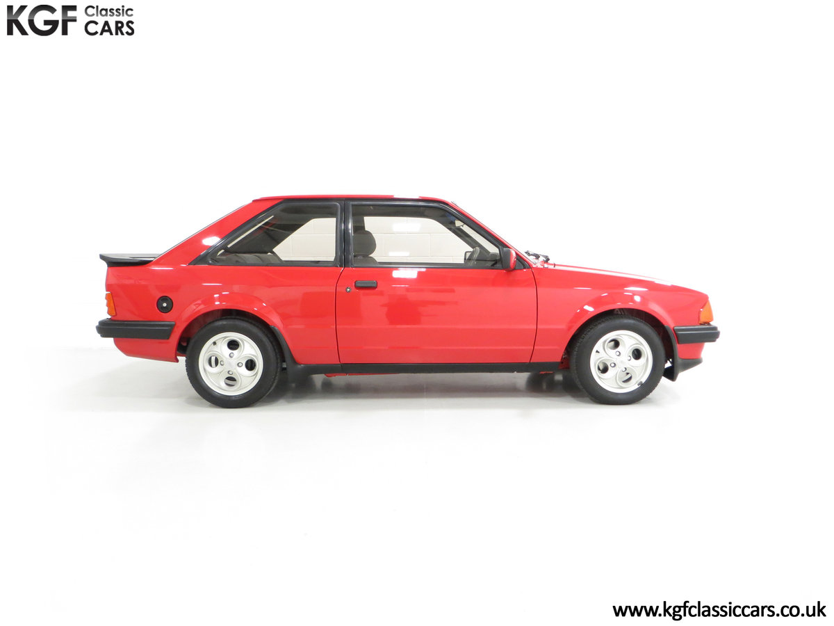 1985 An Award-Winning Late Ford Escort Mk3 XR3i in Rare Rosso Red SOLD (picture 14 of 24)
