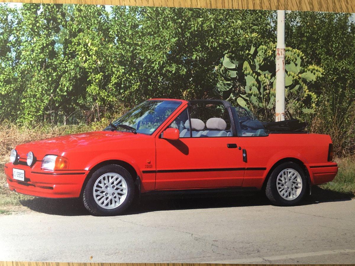 XR3 Red Ford Escort Cabriolet