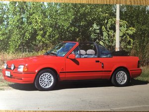 XR3 Red Ford Escort Cabriolet