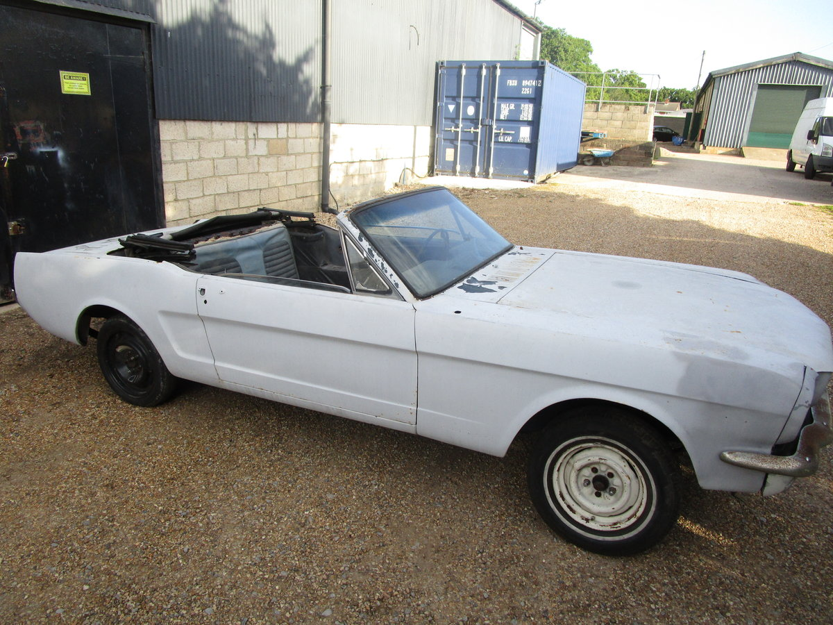 1965 Ford Mustang Convertible Project.  For Sale (picture 1 of 6)