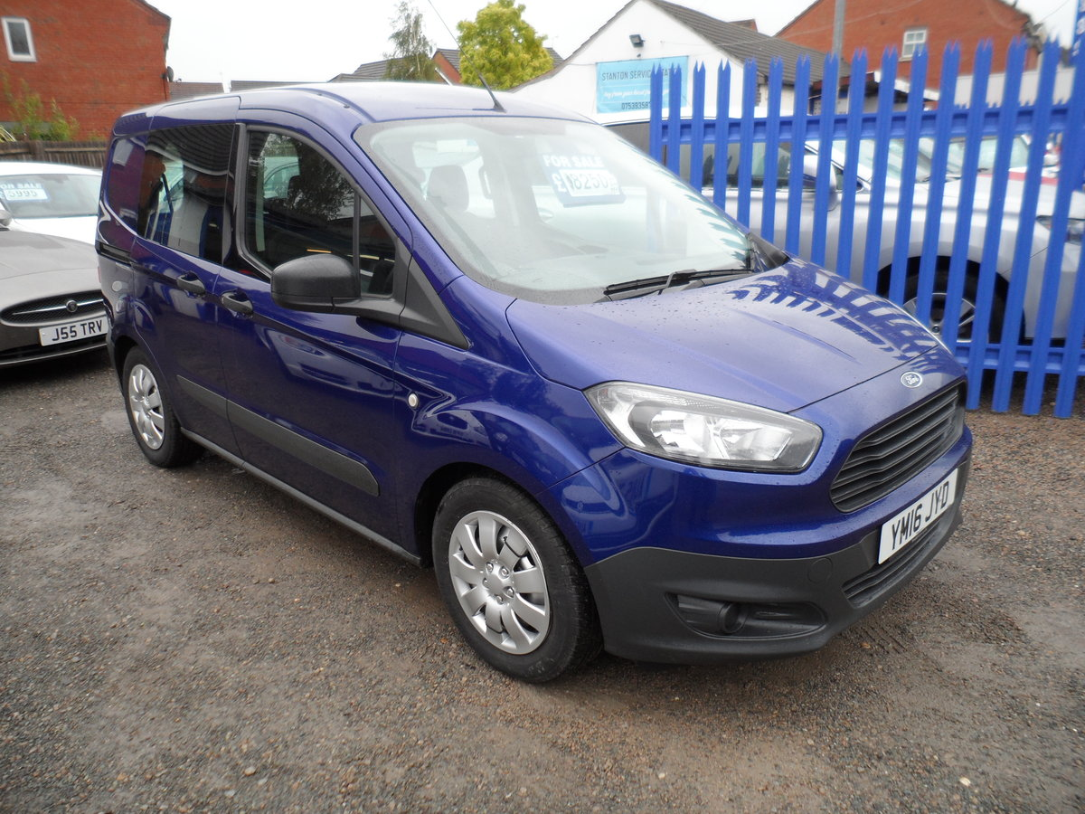 2016 FORD COURIER FACTORY BUILT KOMBI PEOPLE CARRIER 89,000 MILES For Sale (picture 1 of 6)