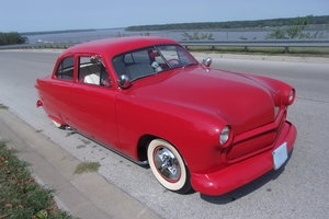1950 Ford Custom 2dr Sedan Street Rod with dual carbs