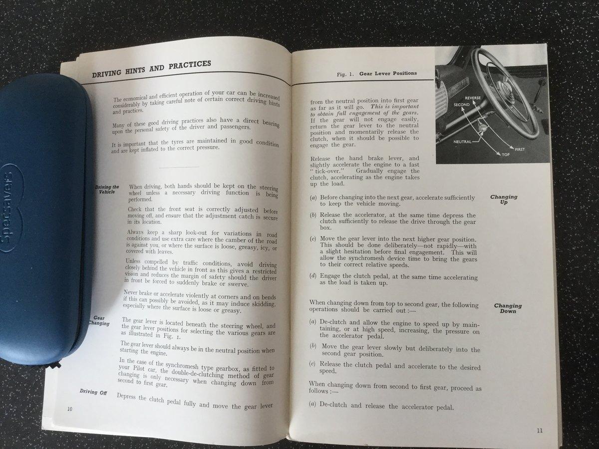 Ford V8 pilot Original instruction book. For Sale (picture 2 of 6)