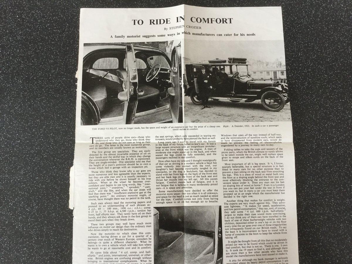 Ford V8 pilot Original instruction book. For Sale (picture 6 of 6)