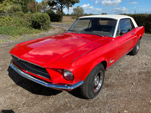 Picture of 1968 Ford Mustang V8 Auto Bright Red Vinyl Roof PROJECT
