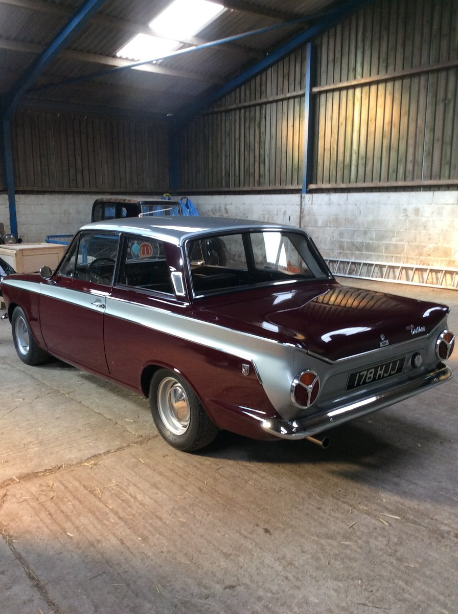 1966 Excellent ford cortina 1500 GT 2 door For Sale (picture 4 of 6)