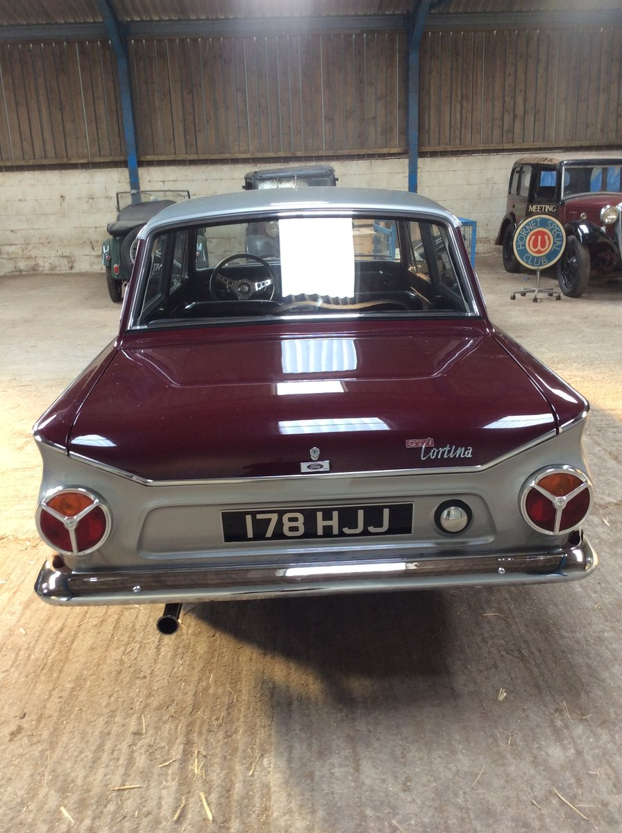 1966 Excellent ford cortina 1500 GT 2 door For Sale (picture 6 of 6)