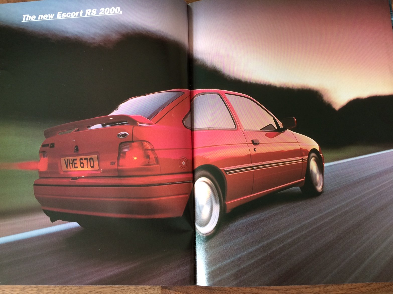 Ford Escort RS2000 sales brochure For Sale (picture 3 of 6)