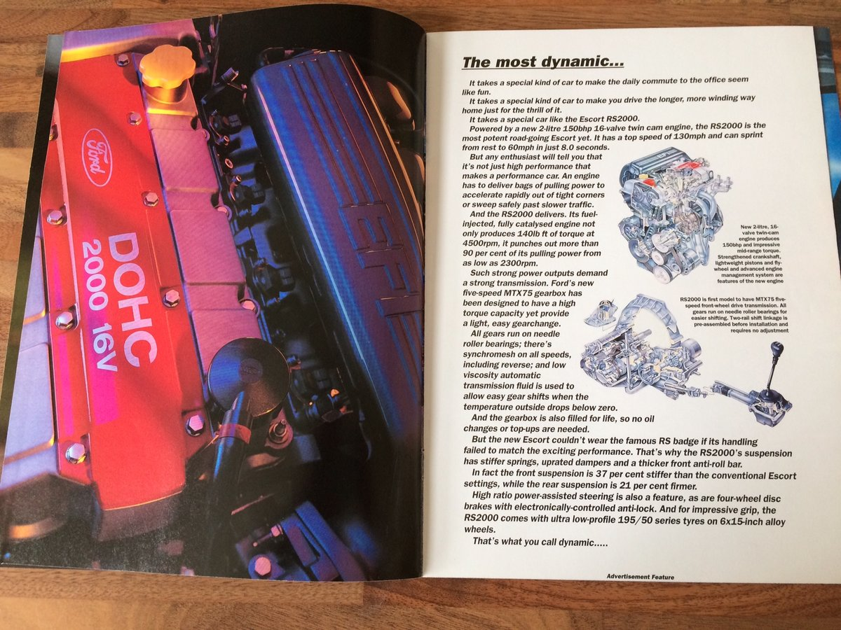 Ford Escort RS2000 sales brochure For Sale (picture 4 of 6)