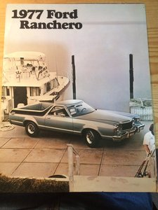 Ford Ranchero sales pamphlet