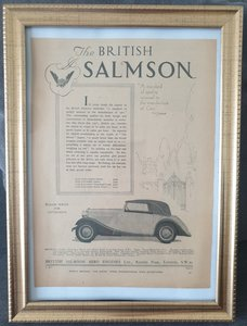 Picture of  Original 1934 British Salmson Framed Advert