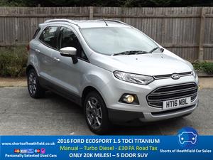 2016 Ford EcoSport 1.5 TDCi Titanium - Just 20k Miles