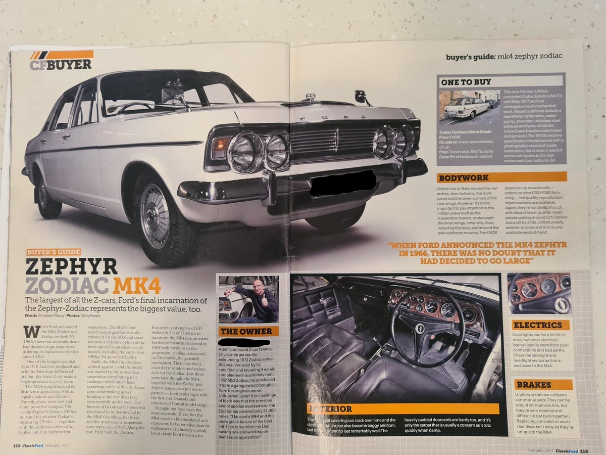 1972 Ford Zodiac MK 4  For Sale (picture 5 of 6)