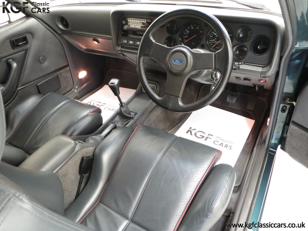 1987 A Fabulous Limited Edition Ford Capri 280 Brooklands For Sale (picture 18 of 24)