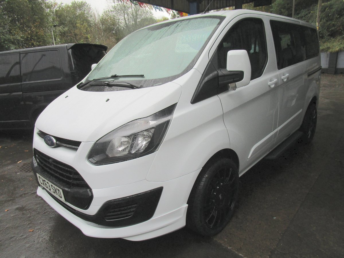 2013 63 FORD TRANSIT CUSTOM TOURNEO 2.0 TDCI 6 SPD MANUAL 9  For Sale (picture 1 of 6)