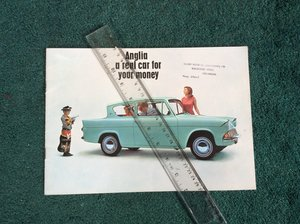 Picture of Excellent Ford Anglia sales brochure