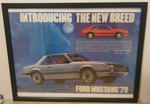 Original 1978 Ford Mustang Framed Advert