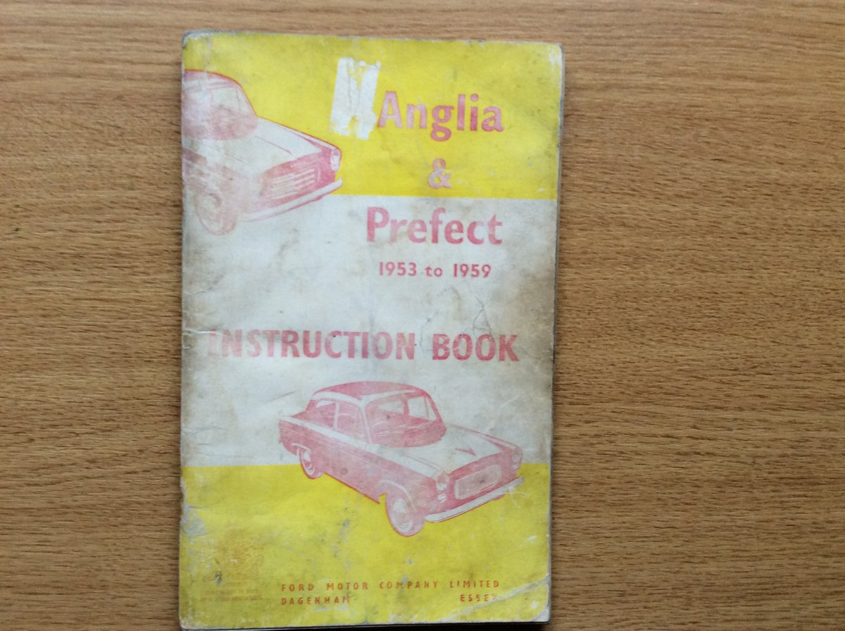 FORD ANGLIA/PREFECT INSTRUCTION BOOK For Sale (picture 1 of 3)