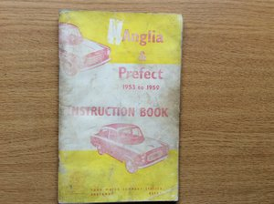 Picture of  FORD ANGLIA/PREFECT INSTRUCTION BOOK