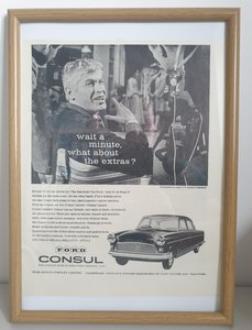 Original 1960 Ford Consul Framed Advert