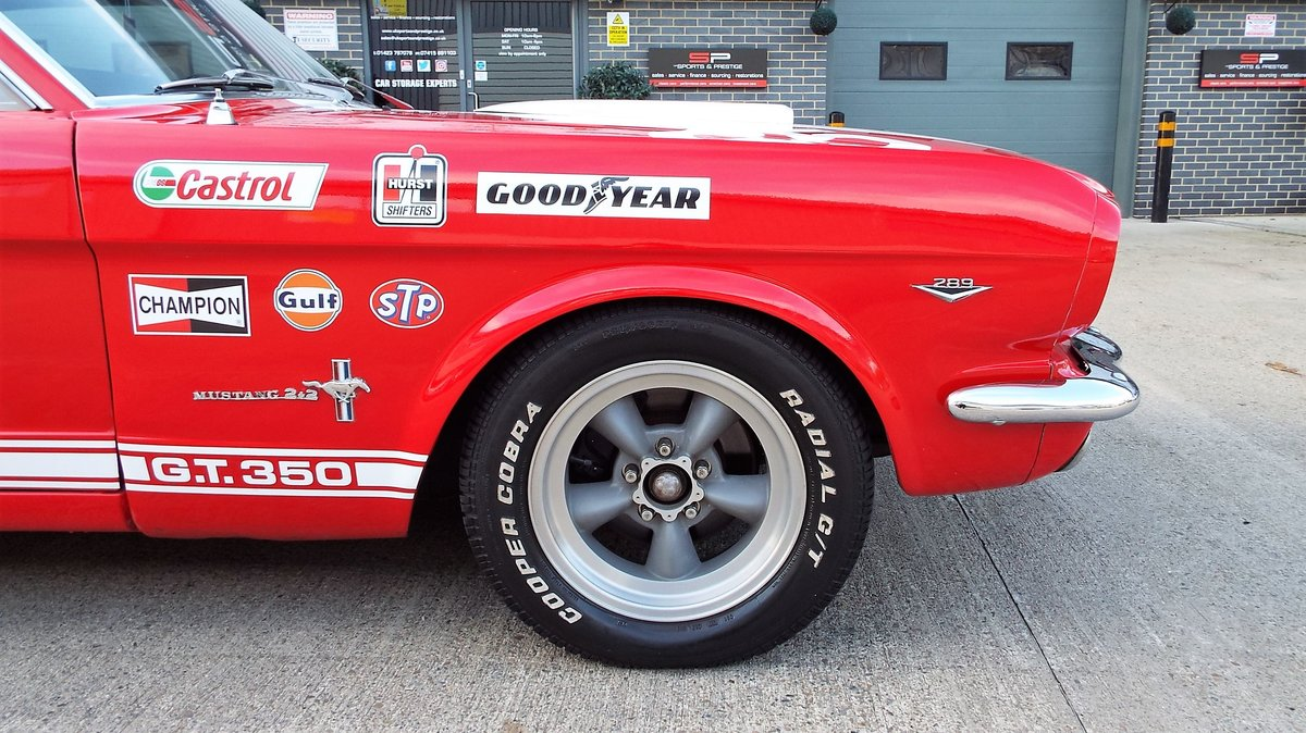 1965 Ford Mustang 4.7 V8 289 Manual Shelby GT350 Fastback For Sale (picture 6 of 12)