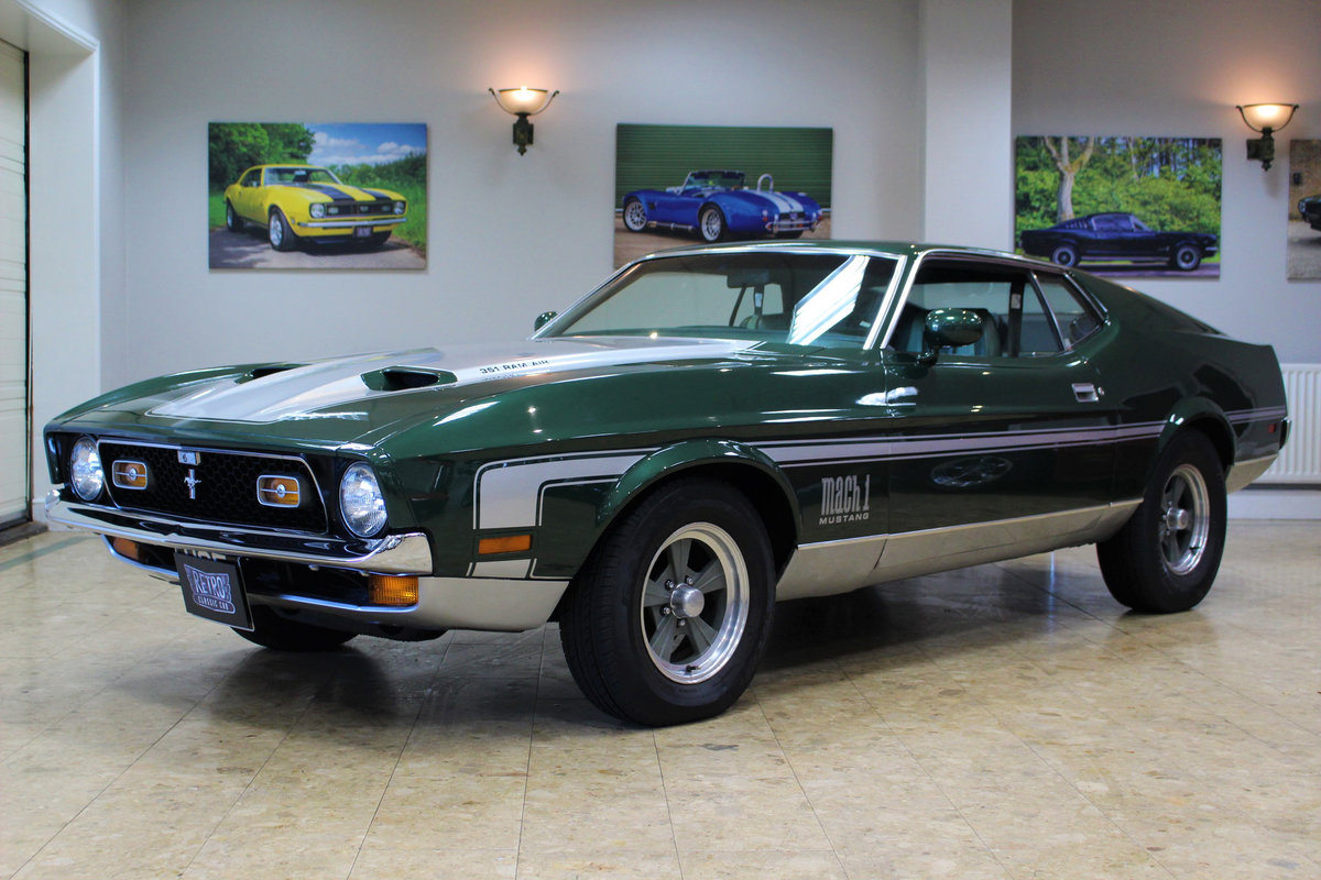 1971 Ford Mustang Mach 1 Cobra Jet 351 V8 Auto-Huge History For Sale (picture 1 of 25)