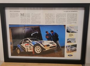Original 1991 Escort RS Cosworth Framed Advert