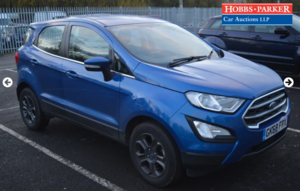 2018 Ford Ecosport Zetec 26,985 Miles for auction 25th