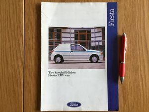 Picture of 1991 Ford Fiesta XRV van brochure For Sale