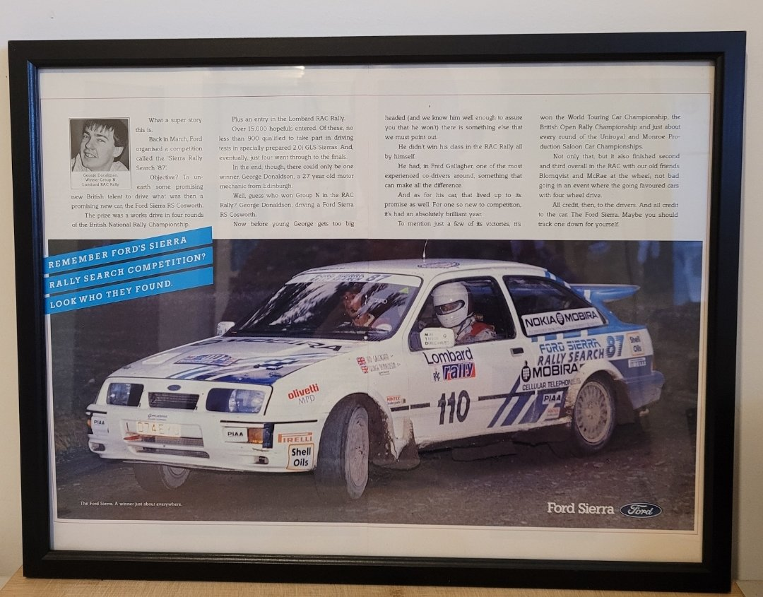 Picture of 1964 Original 1988 Ford Sierra RS Cosworth Framed Advert