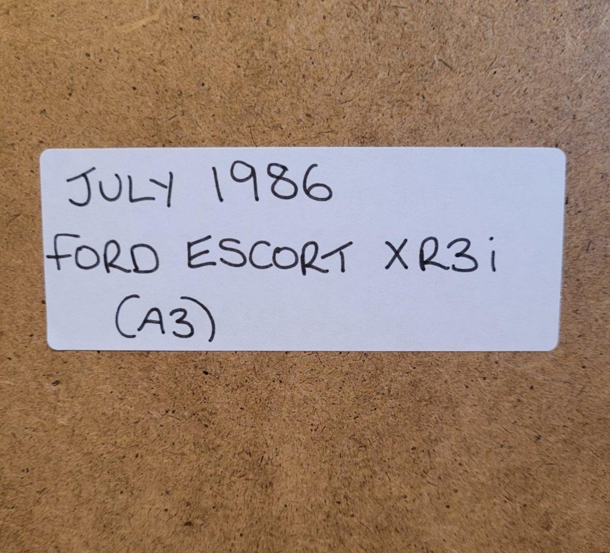 1972 Original 1986 Ford Escort XR3i Framed Advert For Sale (picture 2 of 3)
