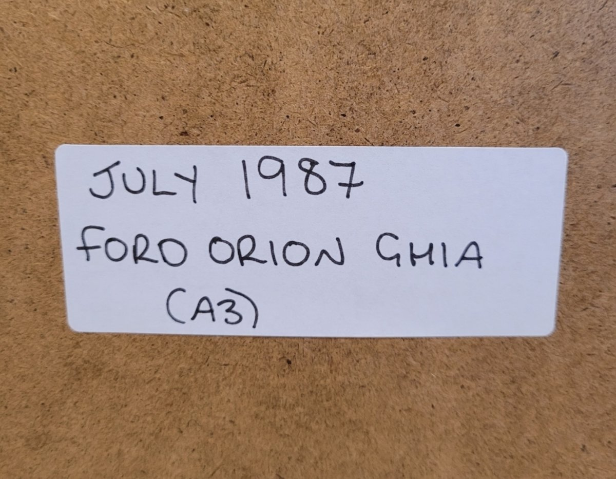 1985 Original 1987 Ford Orion Ghia Framed Advert For Sale (picture 2 of 3)